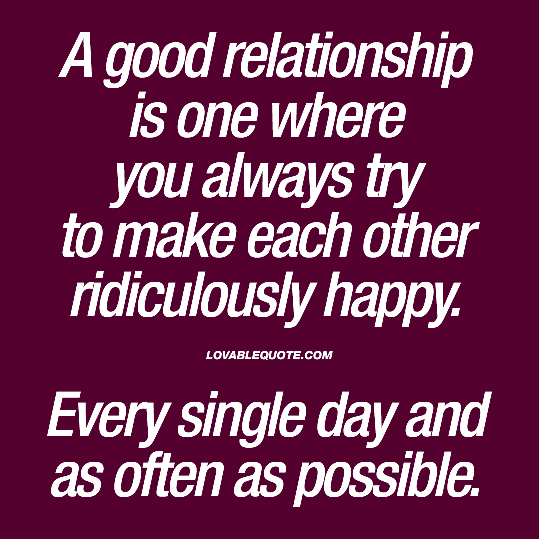 is it possible to have a happy relationship